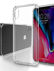 رخيصةأون -غطاء من أجل Apple iPhone X / iPhone XS Max شفاف غطاء خلفي شفاف ناعم TPU إلى iPhone XS / iPhone XR / iPhone XS Max