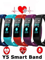 Недорогие -y5 умная полоса часы цветной экран браслет сердечного ритма активность фитнес-трекер смарт-электроника браслет