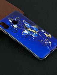 Недорогие -Кейс для Назначение SSamsung Galaxy Galaxy M10 (2019) / Galaxy M20(2019) / Galaxy M30(2019) С узором Кейс на заднюю панель Бабочка Мягкий ТПУ