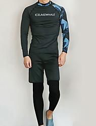halpa -JIAAO Miesten Skin-tyyppinen märkäpuku Sukelluspuvut Pidä lämpimänä UV-aurinkosuojaus 3-osainen - Sukellus Patchwork Syksy Kevät Kesä / Elastinen