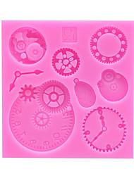 abordables -1pc Gel de sílice Adorable Cocina creativa Gadget Manualidades Pastel Para utensilios de cocina Moldes para pasteles Herramientas para hornear