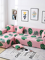 Недорогие -высоко эластичные листья геометрический принт спандекс полиэстер диван чехол для кресла диванчик сиденья 3 4-х местный l-образный секционный чехол для дивана розовый