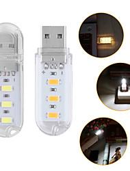 Недорогие -1 шт. Портативный мини 3-светодиодный usb свет ночной светильник открытый кемпинг свет smd 5730 для настольных ПК ноутбук ноутбук чтения power bank