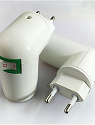 preiswerte -1pc EU bis E14 E14 100-240 V Konverter Kunststoff Glühbirnenfassung