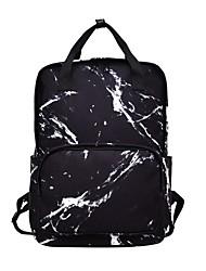 ราคาถูก -สำหรับผู้หญิง ซิป กระเป๋าเป้สะพายหลัง Large Capacity ผ้าใบ ขาว / สีดำ
