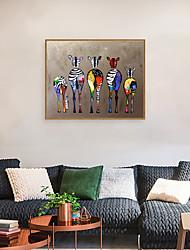 Недорогие -Отпечаток в раме Набор в раме - Абстракция Животные Полистирен Масляные картины Предметы искусства