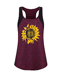 abordables -Mujer Tank Tops Gráfico Gris Oscuro US8