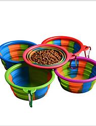 Недорогие -Собаки Коты Маленькие зверьки Кормушки 0.35 L силикагель Компактность Складной Повседневная Радужный Радужный Чаши и откорма