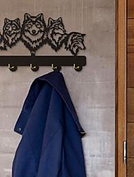 Недорогие -волк декоративная настенная вешалка волк семейная одежда настенный крючок вешалка