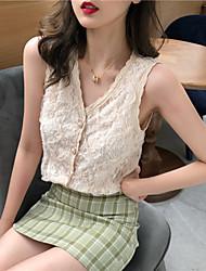 billige -Dame - Ensfarvet T-shirt Hvid US00