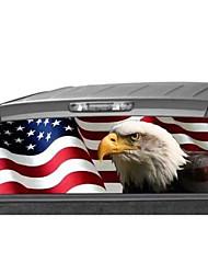 Недорогие -135 * 36 см заднее стекло автомобиля графический орел флаг наклейка тонировка печати стикер для грузовика внедорожник
