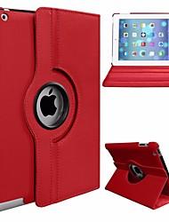 Недорогие -Кейс для Назначение Apple iPad Mini 3/2/1 Поворот на 360° / Защита от пыли / со стендом Чехол Однотонный Твердый Кожа PU / ПК для iPad Mini 3/2/1