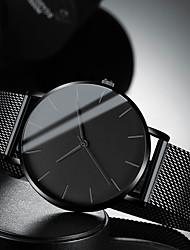 Недорогие -Муж. Нарядные часы Кварцевый Стильные Нержавеющая сталь Черный / Серебристый металл / Золотистый 30 m Защита от влаги Повседневные часы Крупный циферблат Аналоговый На каждый день Мода -  / Один год