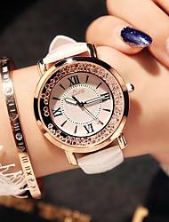 preiswerte -Damen Quartz Uhr Freizeit Modisch Schwarz Weiß Blau TPU Chinesisch Quartz Schwarz Rote Rosa Neues Design Armbanduhren für den Alltag 1 Stück Analog Ein Jahr Batterielebensdauer