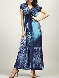 Χαμηλού Κόστους -Γυναικεία Θήκη Φόρεμα - Γεωμετρικό Μακρύ