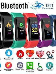 Недорогие -ID115 плюс цветной экран умный браслет спортивные часы шагомер фитнес бега ходьба трекер шагомер пульса умный браслет