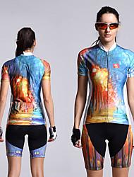 olcso -Mountainpeak Női Rövid ujjú Keréspáros dzsörzé nadrággal Narancssárga+fehér Kék+narancssárga Kék+sárga Gradient Bike Ruházat UV ellenálló Légáteresztő Nedvességelvezető Gyors szárítás Sport / Spandex