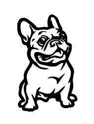 Недорогие -мода французский бульдог собака автомобиль стикер украшения