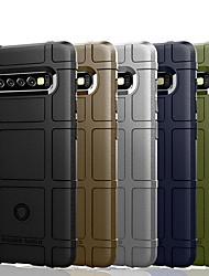 billige -CISIC Etui Til Samsung Galaxy Galaxy S10 Plus / Galaxy S10 E Stødsikker / Støvsikker / Vandafvisende Bagcover Ensfarvet / Geometrisk mønster Blødt TPU for S9 / S9 Plus / S8 Plus