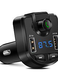 Недорогие -FM-передатчик беспроводной Bluetooth-плеер mp3 поддержка TF USB диск автомобиля 3.1a Dual USB зарядное устройство для iphone GPS GPS FM модулятор