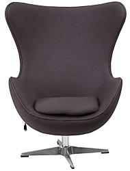 Недорогие -кресло из серой шерстяной ткани в стиле середины века