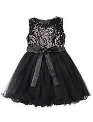 זול -שמלה אחיד בנות ילדים / פעוטות