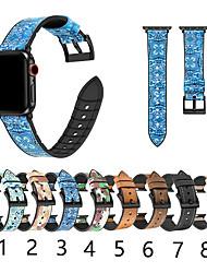 Недорогие -SmartWatch Band для Apple Watch серии 4/3/2/1 силиконовый скраб для кожи камуфляж цветок iwatch ремешок