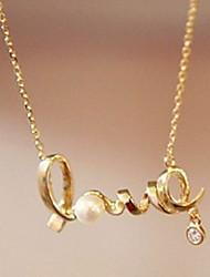 ieftine -Pentru femei Clasic Charm Colier Imitație de Perle Modă Draguț Încântător Auriu 45 cm Coliere Bijuterii 1 buc Pentru Zilnic Muncă