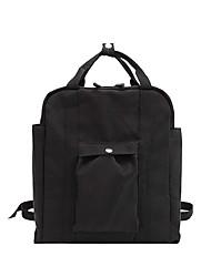 halpa -Naisten Vetoketjuilla Backpack Suuri tilavuus Kangas Musta / Khaki