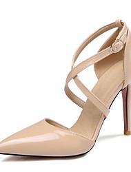 Недорогие -Жен. Лакированная кожа Весна Обувь на каблуках На шпильке Желтый / Розовый / Телесный