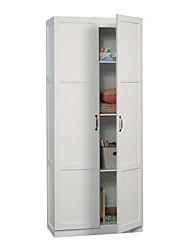 Недорогие -белый шкаф для хранения вещей с 4 полками и дверцами