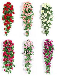 Недорогие -Искусственные Цветы 1 Филиал Классический Свадьба европейский Розы Вечные цветы Цветы на стену