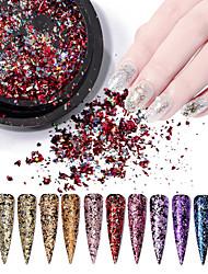 billige -1 pcs Bedste kvalitet Glitter Glitter Til Fingernegl Mode Kreativ Negle kunst Manicure Pedicure Daglig / Festival Stilfuld / Farverig
