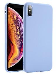 Недорогие -Кейс для Назначение Apple iPhone XS / iPhone XR / iPhone XS Max Защита от удара Кейс на заднюю панель Однотонный Мягкий Силикон