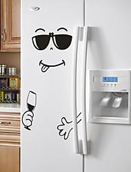 Недорогие -Новые 4 стиля улыбка лицо стикер стены счастливый вкусное лицо наклейки на холодильник вкуснятина для еды мебель украшения искусство плакат diy пвх