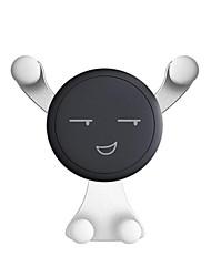 Недорогие -милая улыбка лицо автомобильный держатель телефона автоматическая блокировка универсальный вентиляционный держатель сотового телефона