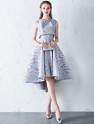 Недорогие -А-силуэт / Из двух частей Круглый вырез Асимметричное Кружева Коктейльная вечеринка Платье с от LAN TING Express