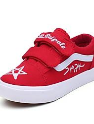 ราคาถูก -เด็กผู้ชาย / เด็กผู้หญิง ผ้าใบ รองเท้าผ้าใบ เด็กวัยหัดเดิน (9m-4ys) / เด็กน้อย (4-7ys) ความสะดวกสบาย สีดำ / แดง ฤดูใบไม้ผลิ / ฤดูร้อน