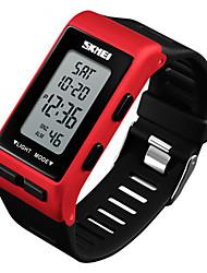Недорогие -SKMEI Муж. электронные часы Японский Цифровой Pезина Черный / Белый / Красный 30 m Защита от влаги Секундомер Новый дизайн Цифровой На открытом воздухе Мода - Черный Красный Синий / Два года