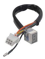 Недорогие -светодиодный универсальный цифровой индикатор передач мотоцикл дисплей рычаг переключения передач датчик