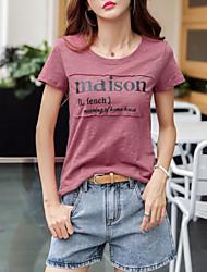 billige -Dame - Bogstaver T-shirt Lilla US8