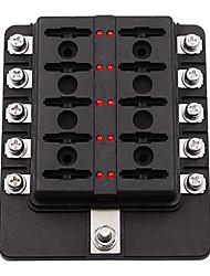 Недорогие -Коробка держателя автомобильного предохранителя на 32 В постоянного тока 1-10 путей со светодиодным индикатором универсального применения (винтовые клеммы)