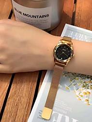 Недорогие -Жен. Нарядные часы Японский кварц Нержавеющая сталь Защита от влаги Аналоговый Классика - Синий Золотистый Черный / Розовое золото