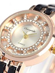 Недорогие -Chaoyada женские стальные пояса часы цепочка ремешок элегантное платье часы