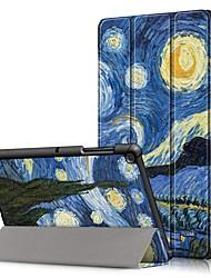 Недорогие -Кейс для Назначение SSamsung Galaxy Samsung Tab S5e T720 10,5 / Samsung Tab A 10.1 (2019) T510 Защита от удара / Флип / Оригами Чехол Пейзаж Твердый Кожа PU