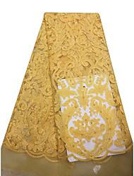 저렴한 -아프리카 레이스 솔리드 패턴 125 cm 폭 구조 용 신부 팔린 ~에 의해 5 야드