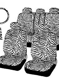 Недорогие -12 шт. / Компл. Роскошный зебра шаблон чехлы на сиденья рулевого колеса комплект