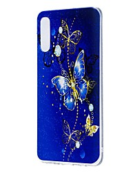 Недорогие -Кейс для Назначение SSamsung Galaxy Galaxy A10 (2019) / Galaxy A30 (2019) / Galaxy A50 (2019) С узором Кейс на заднюю панель Бабочка Мягкий ТПУ