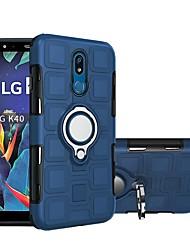 Недорогие -Кейс для Назначение LG LG Stylo 5 / LG K40 Водонепроницаемый / Защита от удара Кейс на заднюю панель Однотонный Мягкий пластик