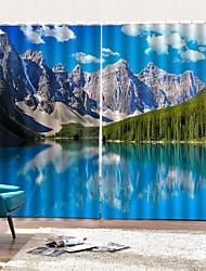 Недорогие -Пользовательские оптовые 3d печать оконные шторы шторы декоративные 100% полиэстер затемняющие ткани для спальни гостиной отель балкон занавес готовые